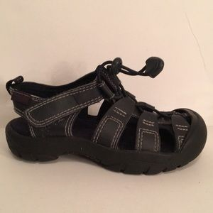 Gymboree Black Leather & Rubber Boys Sandals